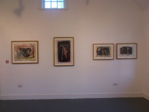 some of the work in the gallery