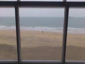 Through the studio window, Porthmeor beach