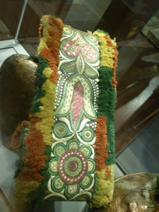 Bell with hand embroidered neck-lace Folk Museum