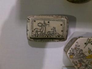 Decorated bone jewellery box folk museum
