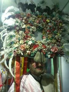local headdress, shepherd statue, folk museum KW