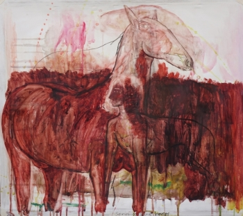 2 Spirit Horse watercolour Kate Walters 2016