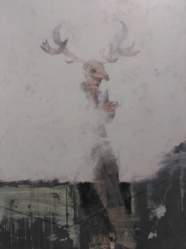 Jo Jewers 'Untitled (A dozen unseen ghosts)' Acrylic, paper and charcoal on board. 109x91cm £1800
